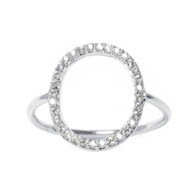 jcpenney.com | Cubic Zirconia Silver-Plated Brass Open Circle Ring