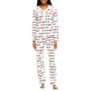 Hanes® Long-Sleeve Knit Pajama Set