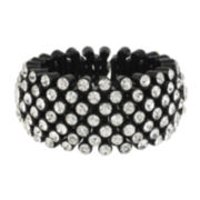 Mixit™ Crystal-Embellished Black Wide Bracelet