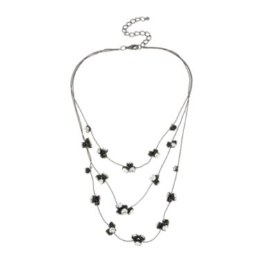 jcpenney.com | Mixit™ Crystal Three-Row Illusion Necklace