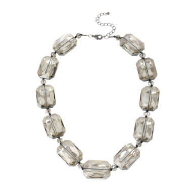 jcpenney.com | Mixit™ Gray Stone Hematite Collar Necklace