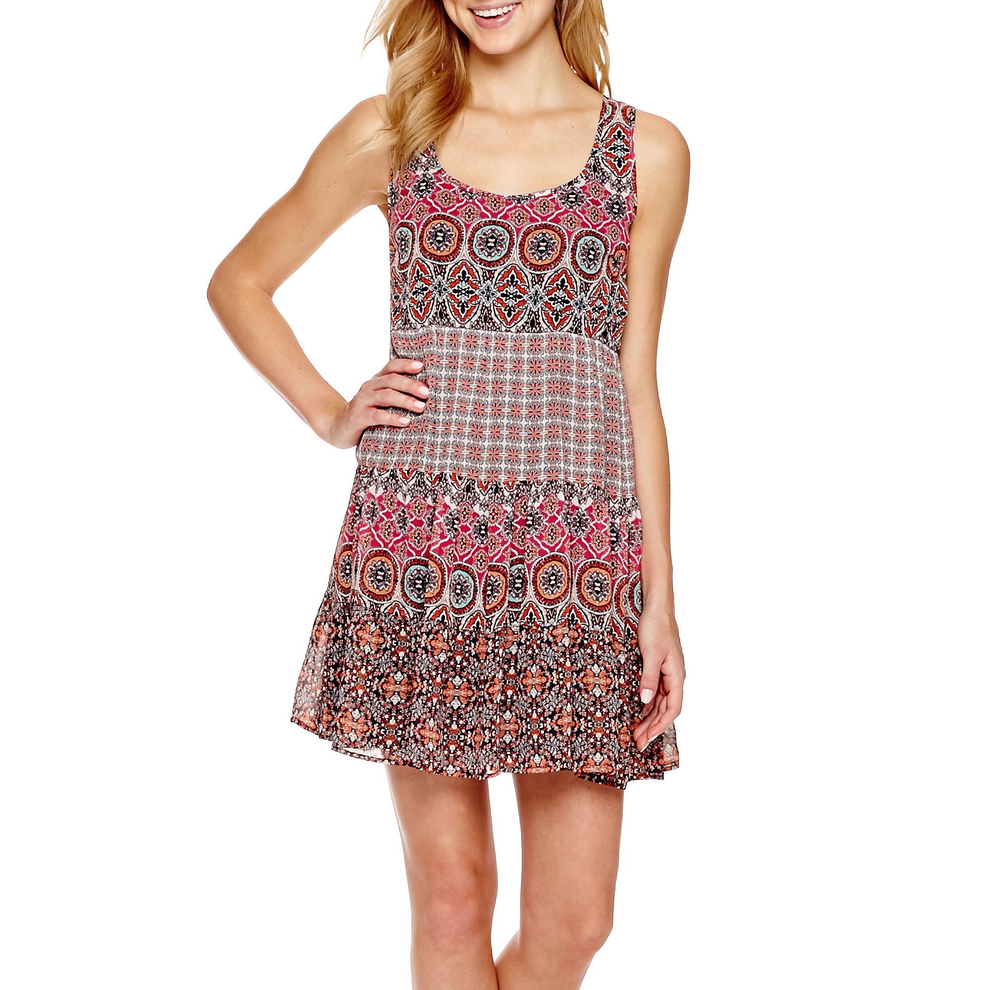 Speechless Sleeveless 3-Tier-Skirt Babydoll Dress plus size,  plus size fashion plus size appare