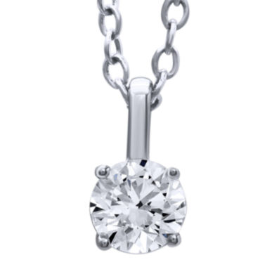 jcpenney.com | 1/3 CT. T.W. Diamond Solitaire Pendant Necklace