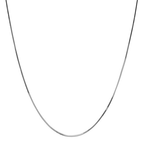 """10K White Gold 16"""" Snake Chain Necklace"""