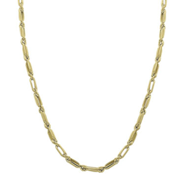 "jcpenney.com | 14K Yellow Gold 18"" Baguette Supreme Hollow Chain Necklace"