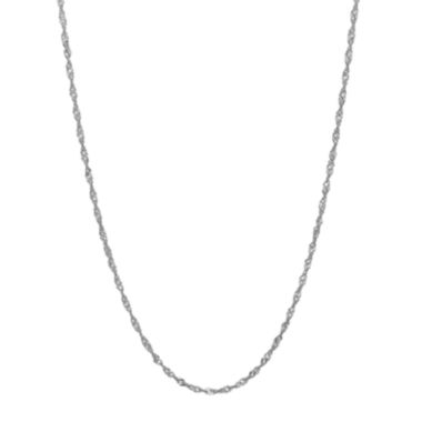 "jcpenney.com | 14K White Gold 20"" Sparkle Singapore Chain Necklace"