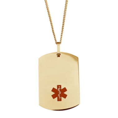 jcpenney.com | Personalized Medical ID Dog Tag Pendant Necklace