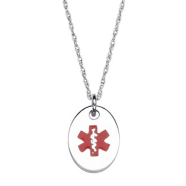 jcpenney.com | Personalized Kids Medical ID Oval Pendant Necklace