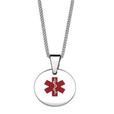 jcpenney.com | Personalized Medical ID Circle Pendant Necklace