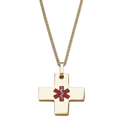 Personalized medical id cross pendant necklace jcpenney personalized medical id cross pendant necklace aloadofball Images