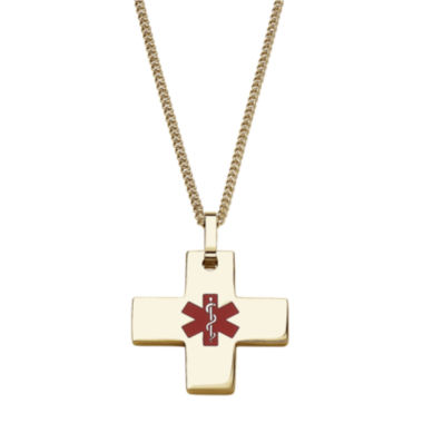 jcpenney.com | Personalized Medical ID Cross Pendant Necklace