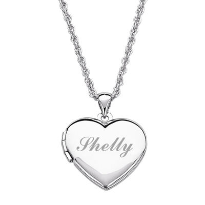 Personalized girls heart locket pendant necklace jcpenney personalized girls heart locket pendant necklace aloadofball Image collections
