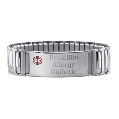 jcpenney.com | Personalized Mens Medical ID Stretch Bracelet