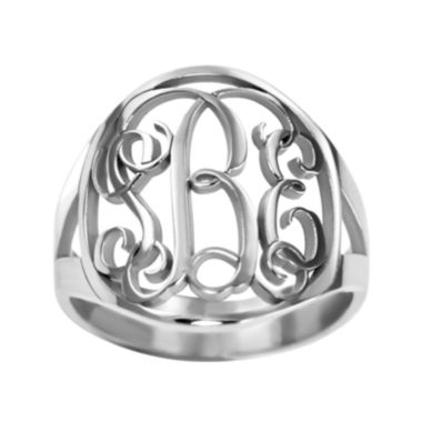 jcpenney.com | Personalized 18mm Vine Monogram Ring
