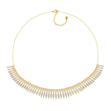 jcpenney.com | Diamond-Accent 18K Gold Over Brass Fringe Necklace