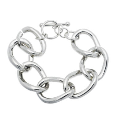 jcpenney.com | Stainless Steel Large Chain Link Bracelet