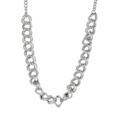 jcpenney.com | Stainless Steel Double Curb Chain Necklace