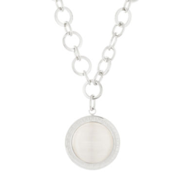 jcpenney.com | Stainless Steel Oval Link Necklace with Round Charm
