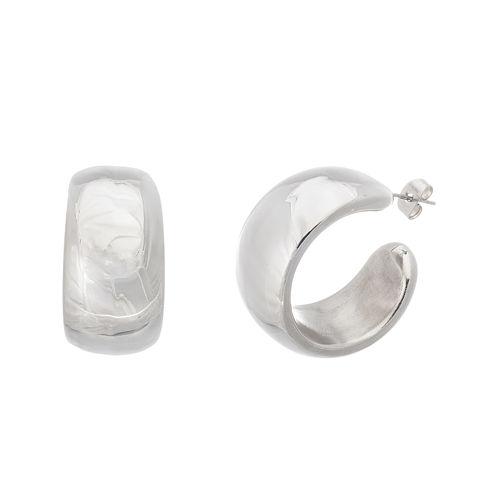Stainless Steel 30mm Oval Hoop Earrings