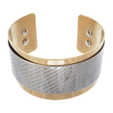 jcpenney.com | 18K Gold Ion-Plated Stainless Steel Cuff Bracelet