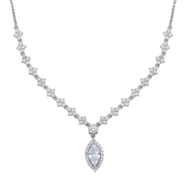 jcpenney.com | DiamonArt® Cubic Zirconia Sterling Silver Marquise Necklace