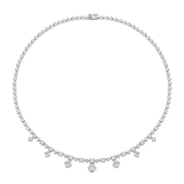 jcpenney.com | DiamonArt® Cubic Zirconia Sterling Silver Drops Necklace