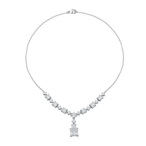 DiamonArt® Cubic Zirconia Sterling Silver Y Necklace