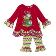 Rare Editions Christmas Top and Pants - Toddler Girls 2t-4t