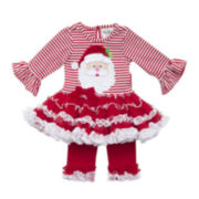 Rare Editions Santa Tutu Top and Leggings - Toddler Girls 2t-4t