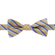 Stafford® Pacific Stripe Dot Reversible Pre-Tied Bow Tie