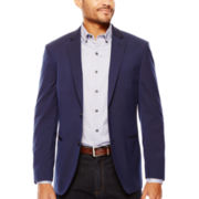Savile Row® Navy Pindot Sport Coat - Slim Fit