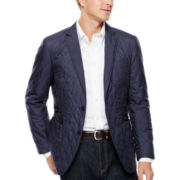Savile Row® Quilted Nylon Sport Coat - Slim Fit