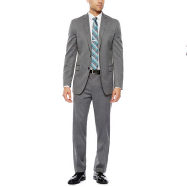 jcpenney.com | JF J.Ferrar Stretch Gray Herringbone Suit Separate-Slim Fit