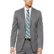 JF J. Ferrar® Gray Herringbone Stretch Suit Jacket - Super Slim Fit