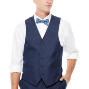 IZOD® Navy Sharkskin Suit Vest - Classic Fit