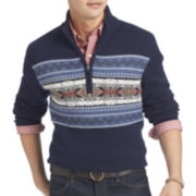 IZOD® Fair Isle Quarter-Zip Sweater