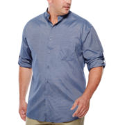 D'Amante Long-Sleeve Banded-Collar Shirt - Big & Tall