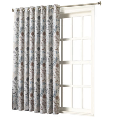 "jcpenney.com | Sun Zero™ Emory Printed Floral Room-Darkening Grommet-Top "" 100 x 84"" Patio Panel"