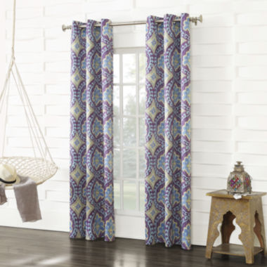 jcpenney.com | Sun Zero™ Raven Room-Darkening Grommet-Top Curtain Panel