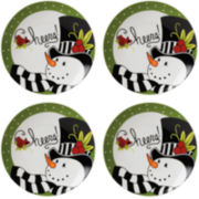 Fitz and Floyd® Frosty's Frolic Snowman Set of 4 Snack Plates