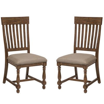 Lexington Set of 2 Slat-Back Chairs