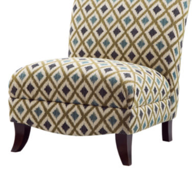 jcpenney.com | Fern Print Armless Curved-Back Chair