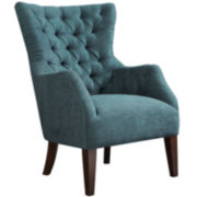 Izzy Button-Tufted Wingback Chair