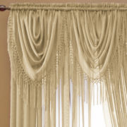 jcp home™ Snow Voile Rod-Pocket Waterfall Valance