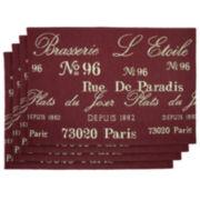 Park B. Smith® Brasserie Set of 4 Vintage Placemats