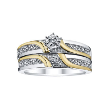 jcpenney.com | Two-Tone Diamond Accent Bridal Set