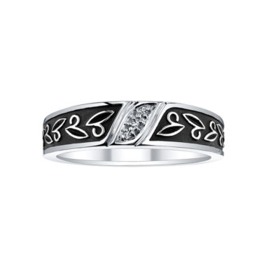 jcpenney.com | Mens Diamond-Accent Leaf-Detail Wedding Band