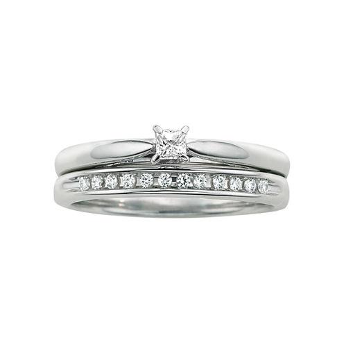 I Said Yes™ 1/6 CT. T.W. Certified Diamond Bridal Set