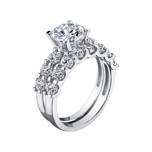 Jcpenney Gift Registry Wedding: DiamonArt 4 CT TW Cubic Zirconia Bridal Ring Set