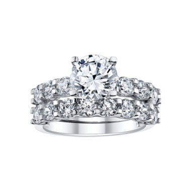 jcpenney wedding ring sets tw cubic zirconia bridal ring set size